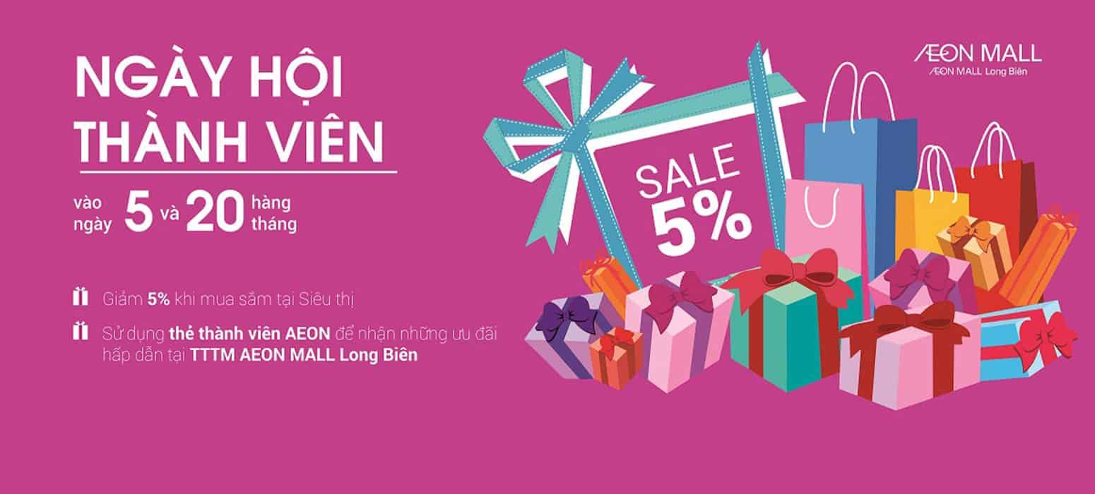 Tổng hợp tất cả các khuyến mại tại Aeon Mall Long Biên