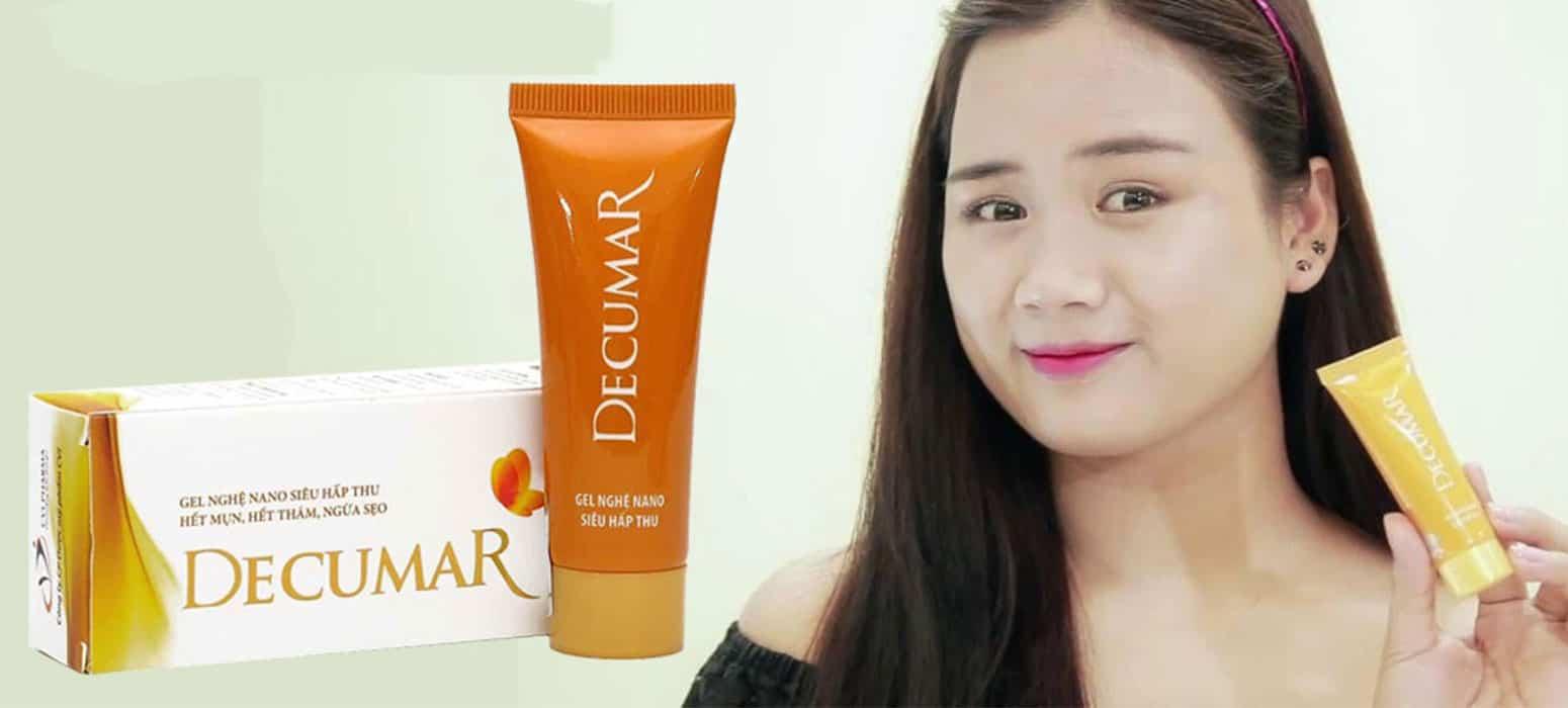 review kem trị mụn decumar